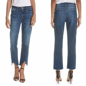 Frame • Le High Straight Asymmetrical Jeans 24